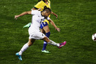 Football Ferns' Ria Percival in action against Brazil. Photo / Getty Images