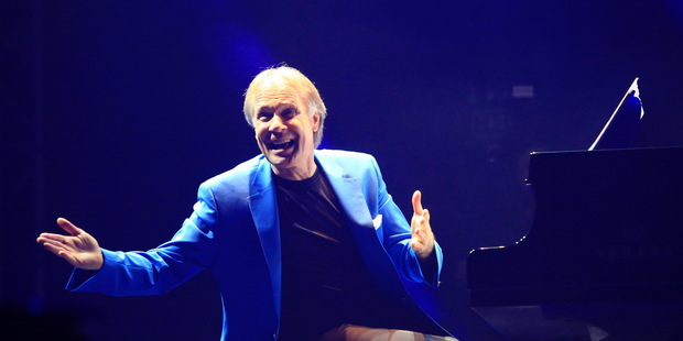 Pianist Richard Clayderman during a concert in Suining, Sichuan province of China. Photo / Getty Images