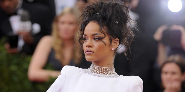 Rihanna wearing a million dollar choker by Jacob Arabo. Photo / Getty