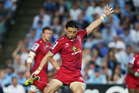 Ayumu Goromaru takes a shot at goal against the Waratahs in round one of this seasons Super Rugby. Photo / Getty Images