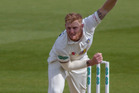 English bowler Ben Stokes bowling for Durham on 2 May (NZT). Photo / Getty Images