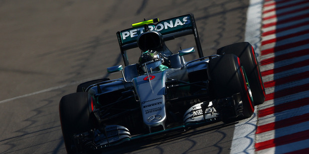 Nico Rosberg during the Formula One Grand Prix of Russia at Sochi Autodrom. Photo / Getty Images