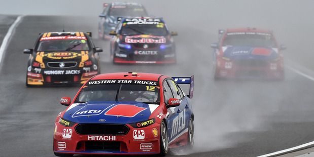 Fabian Coulthard leads the field at the V8 Supercars Perth SuperSprint. Photo / Getty Images