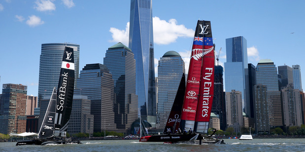 Team New Zealand competes in the America's Cup World Series regatta in New York. Photo / Getty Images