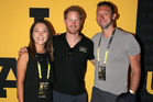 Lydia Ko poses with Prince Harry and Ian Thorpe at the Invictus Games. Photo / Getty