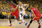 Stephen Curry dribbles against the Portland Trail Blazers. Photo / Getty Images