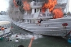 Fire aboard a cruise ship on Halong Bay Vietnam forces passengers to jump for their lives