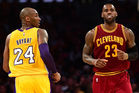 As Kobe Bryant (L) found out this season, every player will eventually hang 'em up, including LeBron James (R). Photo / Getty