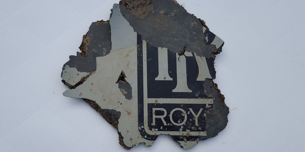"A piece of engine cowling featuring a Rolls-Royce stencil, which was found in South Africa earlier this year, is ""almost certainly"" from the Boeing 777 that went missing. Photo / Supplied"