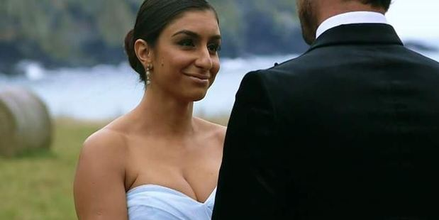 Naz's final outfit on The Bachelor. Photo / Twitter Nazanin Khanjani