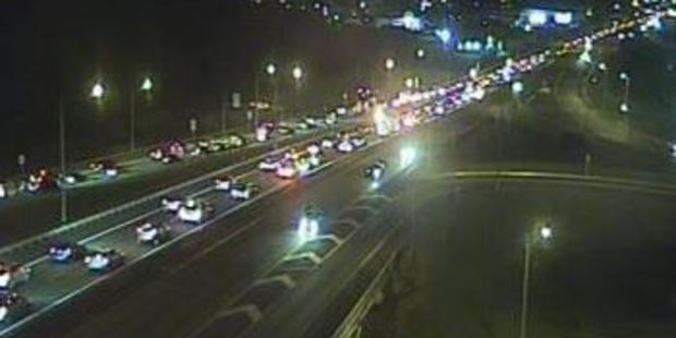 Traffic is slow on Auckland's Northern Motorway this morning. Photo / New Zealand Transport Authority