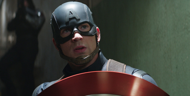 Chris Evans in the role he's most known for, Captain America/Steve Rogers. Photo / Marvel