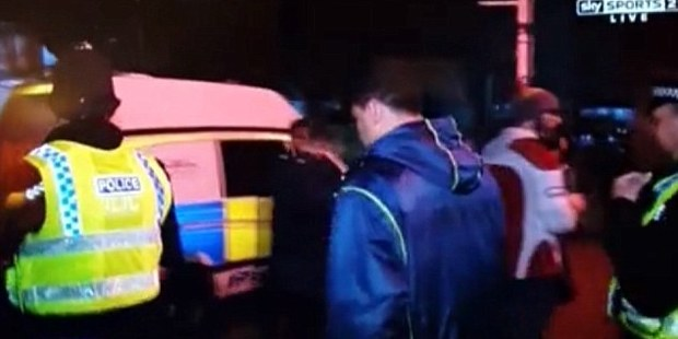 Mils Muliaina being arrested. Photo: YouTube