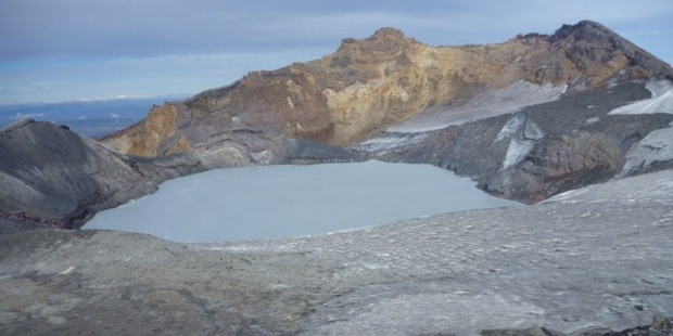 HEATING UP: Temperatures on Mt Ruapehu have been increasing in recent weeks.