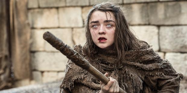 Arya Stark didn't stay blind long on Game of Thrones.