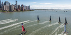View: Team NZ sailing in the Big Apple