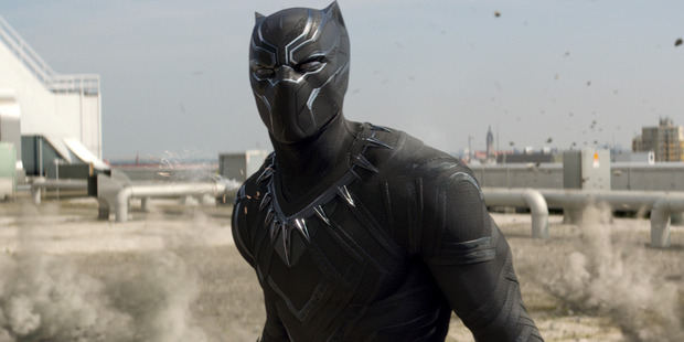 Black Panther (Chadwick Boseman) in Captain America: Civil War.
