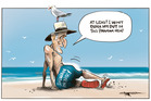 The Govt has its backside covered in the Panama Papers dump. Illustration / Rod Emmerson