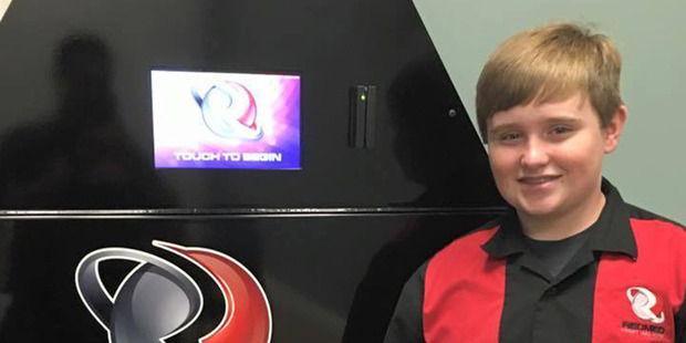 Loading Taylor Rosenthal is a 14-year-old high-school student from Alabama and is the creator of RecMed, a vending machine that dispenses first aid products. Photo / Supplied