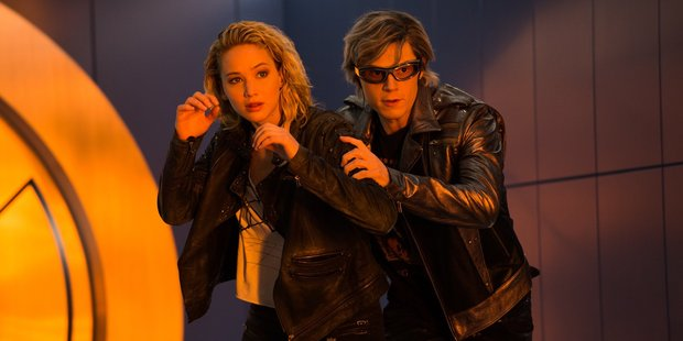 Loading Jennifer Lawrence and Evan Peters in a scene from the upcoming movie, X-Men Apocalypse.