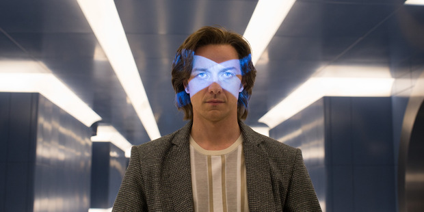 Actor James McAvoy in a scene from the movie X-Men: Apocalypse.