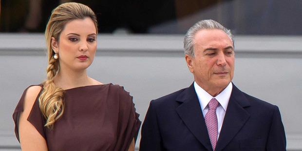 Marcela Temer was an aspiring beauty queen when she married Michel Temer. Photo / Marinho Agencia Estado Sipa