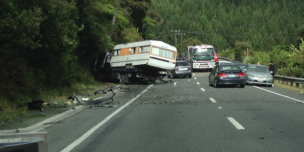 The NZTA said State Highway 1 was now opened between Warkworth and Wellsford after the incident which resulted in the death of a man. Photo / Dillon Johnstone