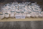 Image supplied by police of the largest-ever seizure of ephedrine in New Zealand. Photo / Supplied