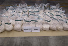 Three men were arrested following a joint Customs and Police operation after 200kg of ephedrine was stopped by Customs.