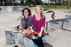 Belinda Wheaton (left) and Holly Thorpe are researching into Olympic Games sports. Photo / University of Waikato