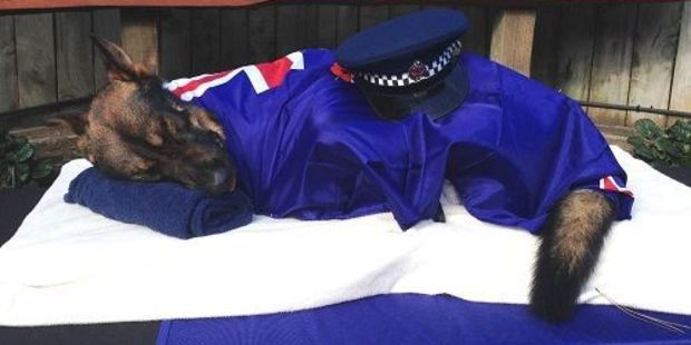 Gazza was farewelled at a private ceremony a week after the shooting. Photo /NZ Police