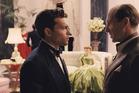 Alden Ehrenreich, left, as rising star Hobie Doyle in <i>Hail, Caesar!</i>.