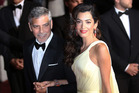 George Clooney and Amal Clooney at the screening of the film Money Monster at the 69th international film festival, Cannes, southern France. Photo / AP