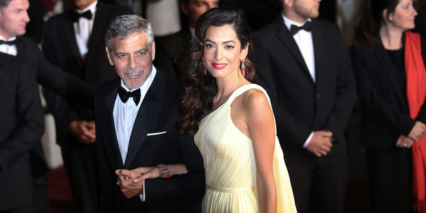 Loading George Clooney and Amal Clooney at the screening of the film Money Monster at the 69th international film festival, Cannes, southern France. Photo / AP