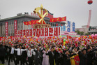 Parade participants said they had been practising their parts for weeks. Picture / AP