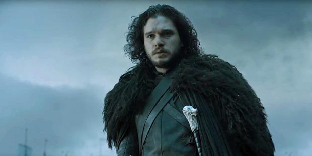 Kit Harrington as Jon Snow in a scene from Game of Thrones.