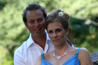 Samantha and Richard Kudeweh on their wedding day. Photo / supplied.