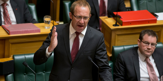 Labour leader Andrew Little said John Key was not addressing the primary issue of NZ allowing foreigners to stash their money in NZ to avoid taxes in their homeland. Photo / Mark Mitchell