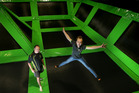 Allie Grimshaw and her father Peter Grimshaw will open Flip Out, a trampoline centre, on Saturday. They have employed 21 staff in the new business. Photo/John Borren