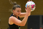 Waikato Bay of Plenty Magic shooter Ellen Halpenny landed just one from seven in the second quarter. Photo / Alan Gibson