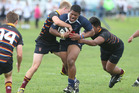 Sione Afu Tuputupu played well for TBC First XV against Wesley College.