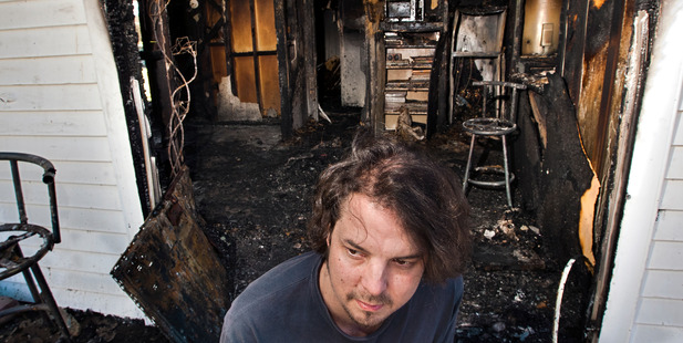 Kris Beehre had to jump out the kitchen window to escape his burning house -one of 75 house fires in the region last year. PHOTO/BEN FRASER