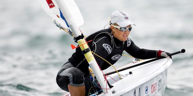 New Zealand sailor Sara Winther. Photo / Richard Robinson.