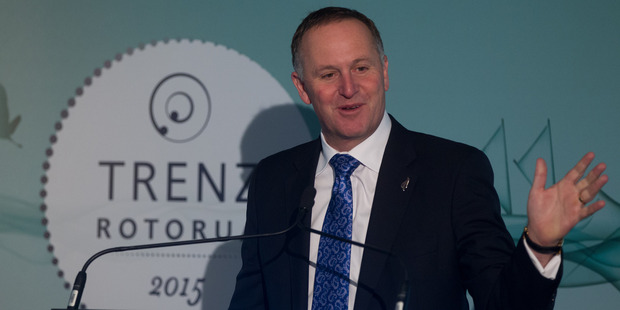 Prime Minister John Key addressing delegates at TRENZ last year. Photo / Stephen Parker