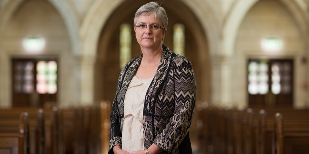Rev Helen Jacobi says St Matthew-in-the-City will continue to welcome the LGBTI community, despite the synod's ruling. Photo / Greg Bowker