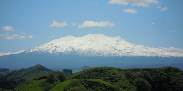 Ruapehu's crater lake temperature has risen about 20C since mid-April. Photo / Maurice Costello