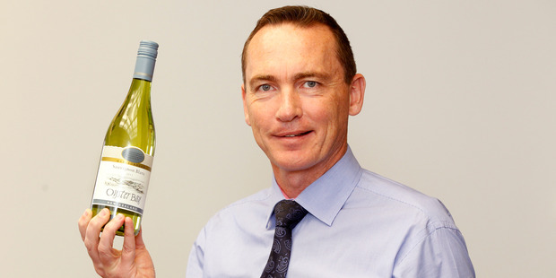 Graeme Lord of Delegat Wine Estate pictured at the company office in Auckland's Viaduct. Photo / Chris Gorman