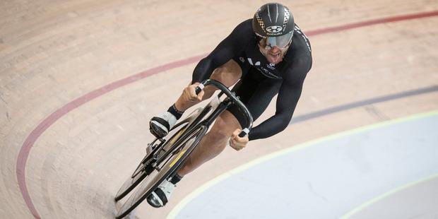 Loading Simon Van Velthooven won bronze in the keirin at the London Olympics. Photo / Greg Bowker