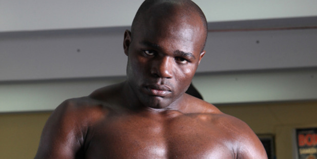 Loading Carlos Takam has arrived in Auckland ahead of his fight against Joseph Parker this weekend. Photo / Supplied