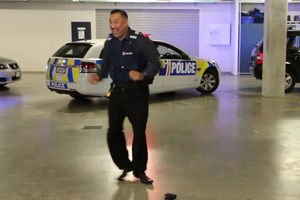 Police in Auckland started the Running Man dance craze.
